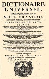 1690 Amsterdam - Dictionnaire Universel Antoine Furetiere